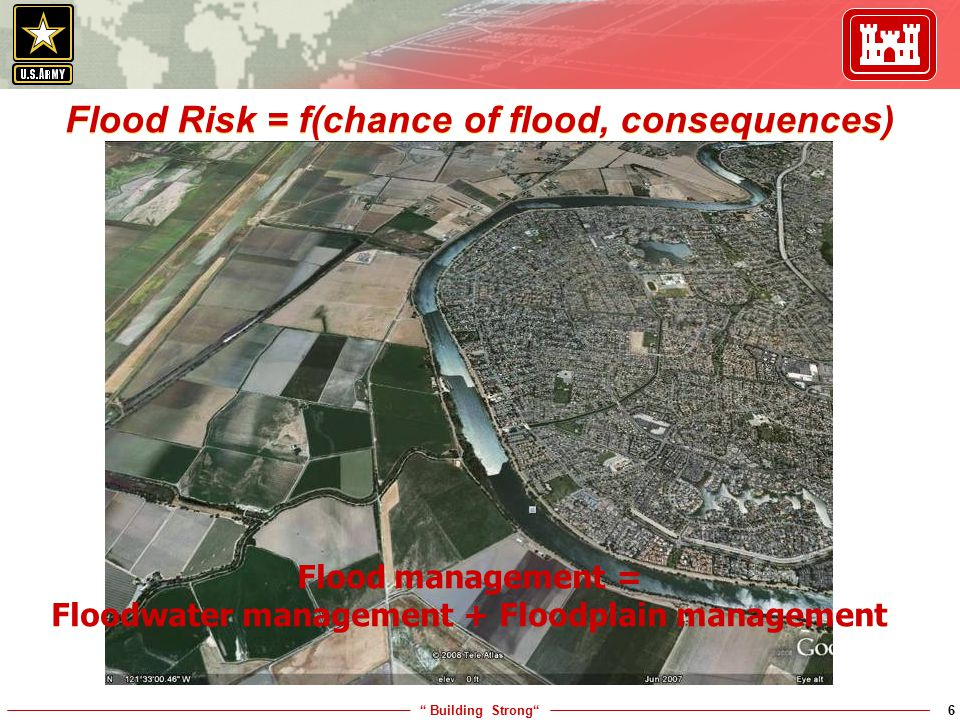 Flood Risk = f(chance of flood, consequences)
