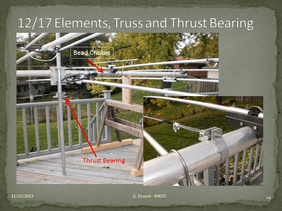 12/17 Elements, Truss and Thrust Bearing