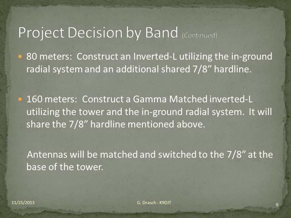 Project Decision by Band (Continued)