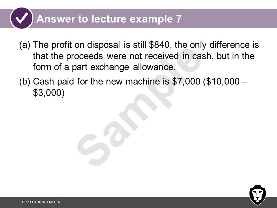 Answer to lecture example 7