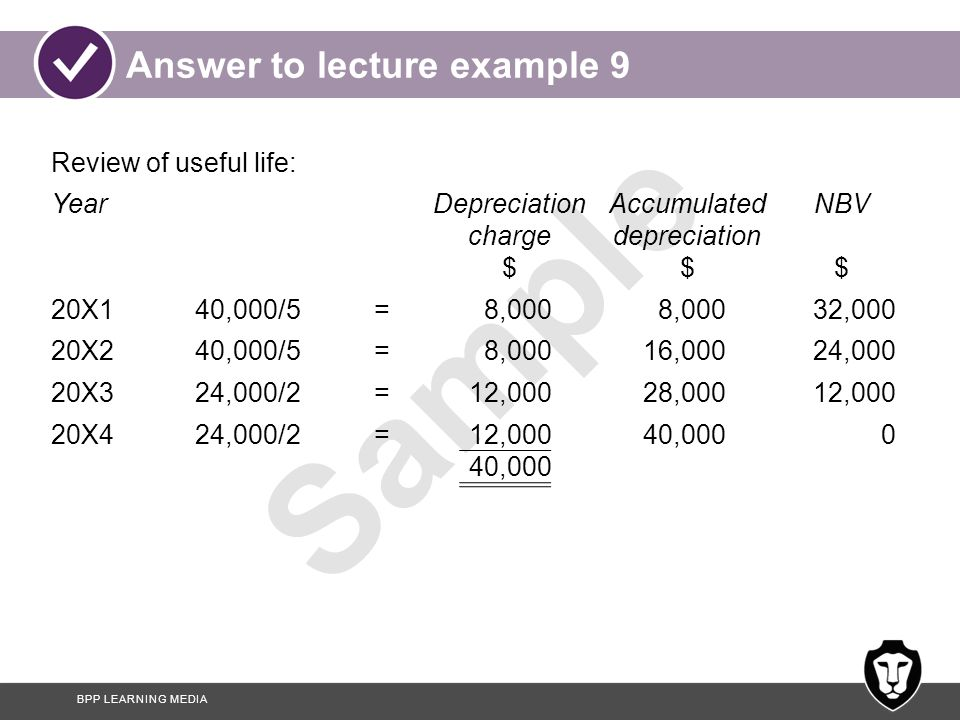Answer to lecture example 9