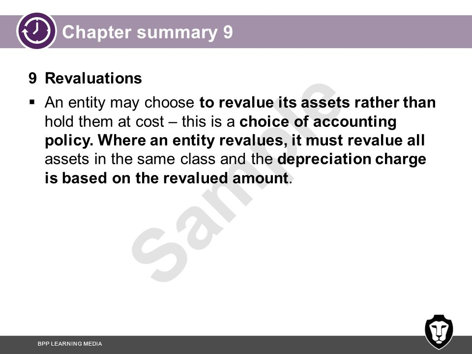 Chapter summary 9 9 Revaluations