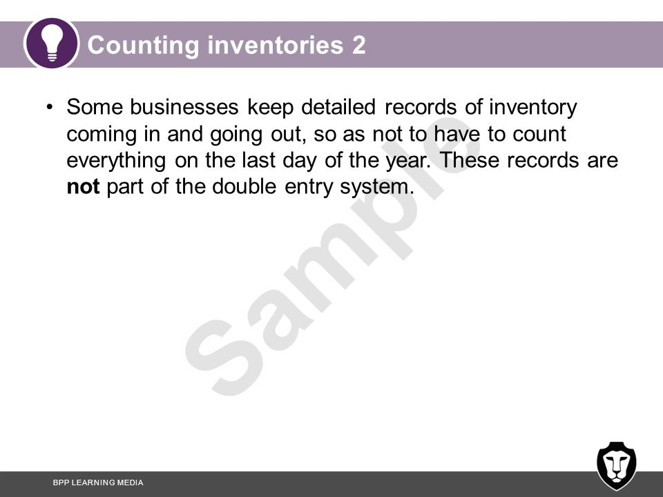 Counting inventories 2