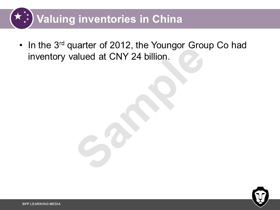 Valuing inventories in China