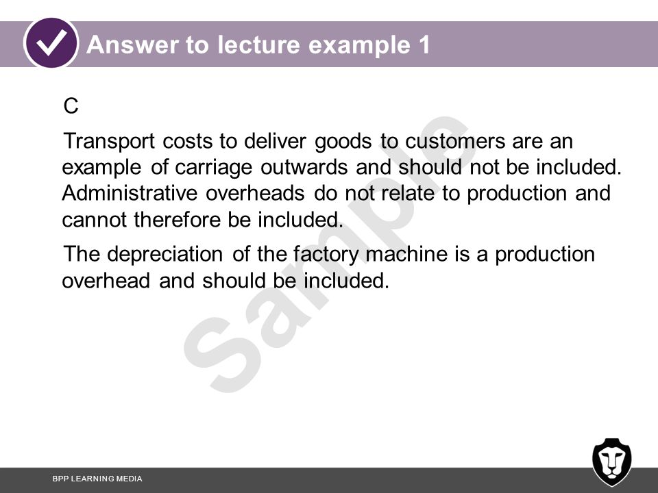 Answer to lecture example 1