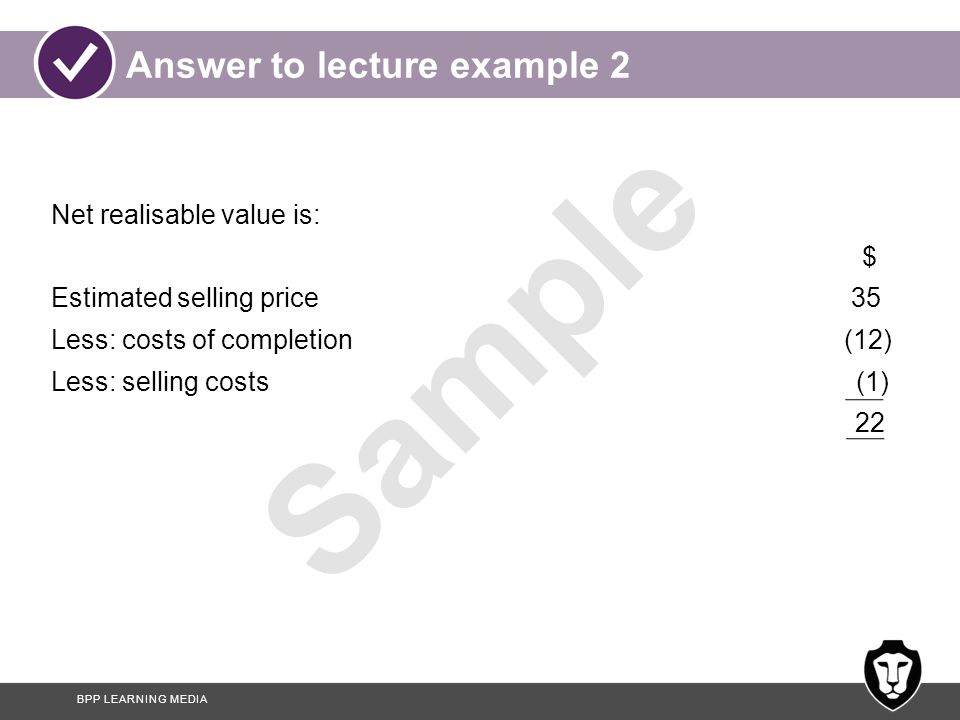 Answer to lecture example 2