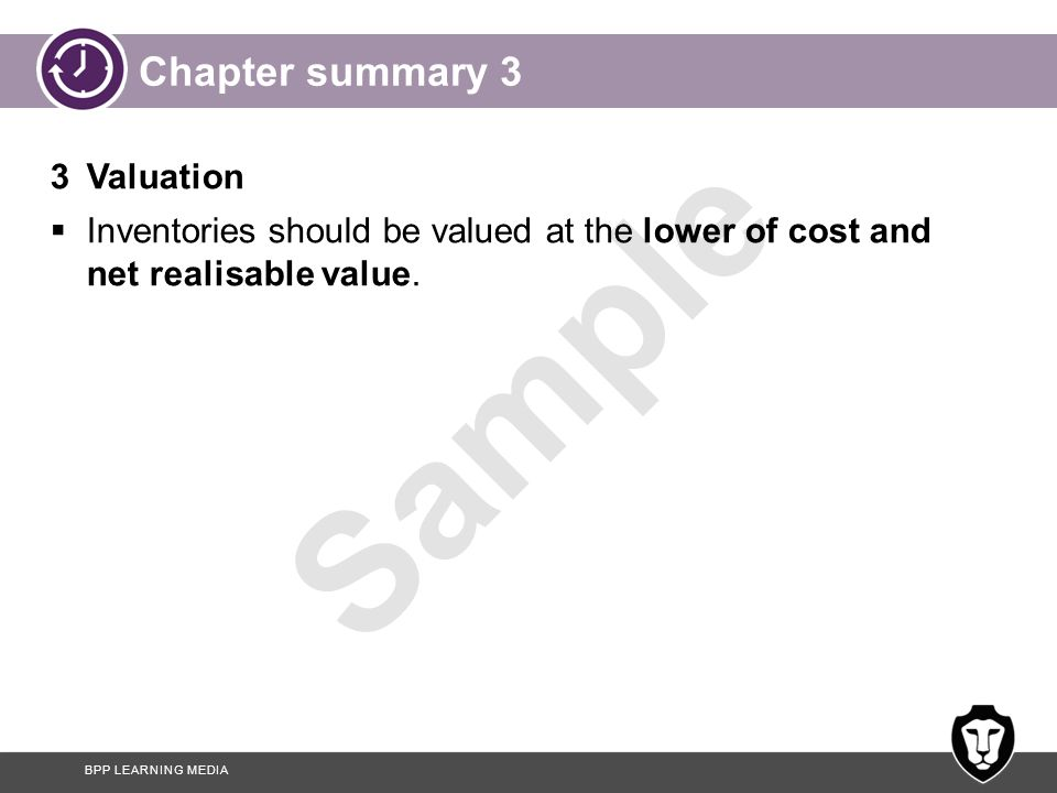 Chapter summary 3 3 Valuation