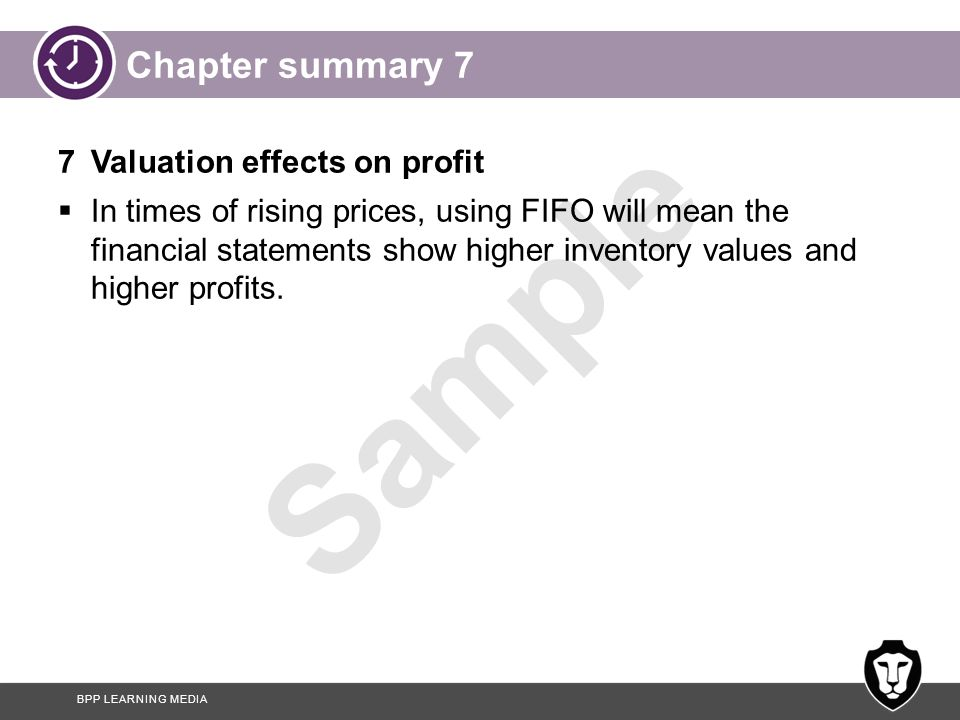 Chapter summary 7 7 Valuation effects on profit