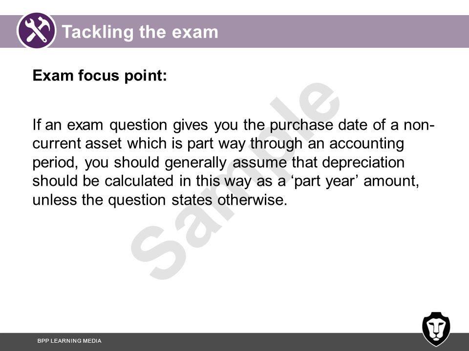 Tackling the exam Exam focus point: