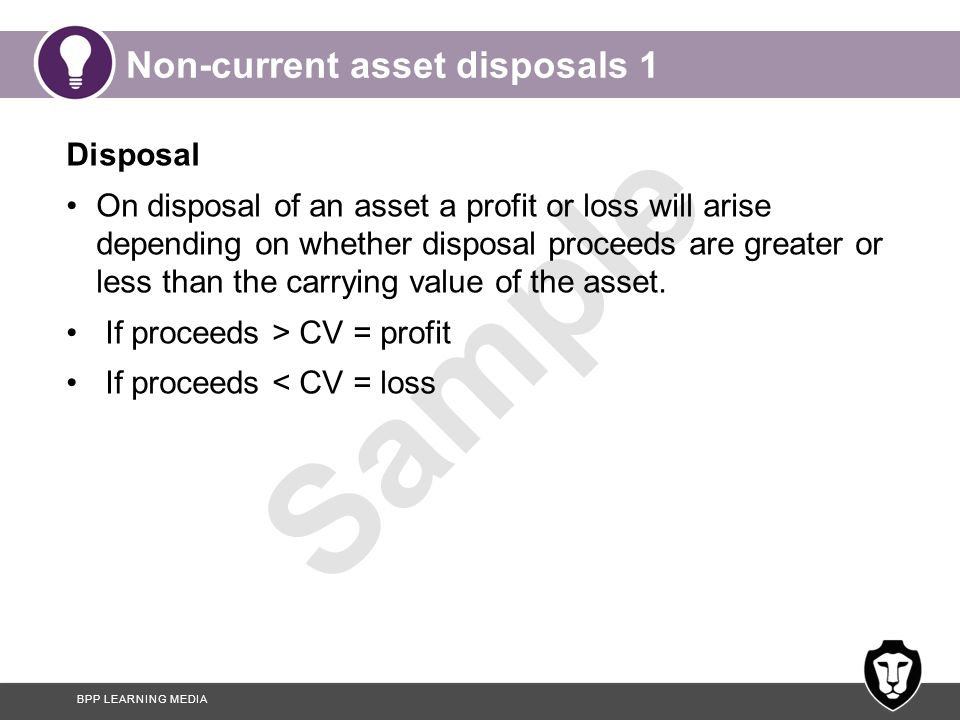Non-current asset disposals 1