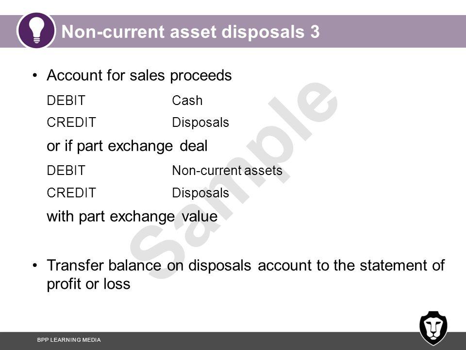 Non-current asset disposals 3