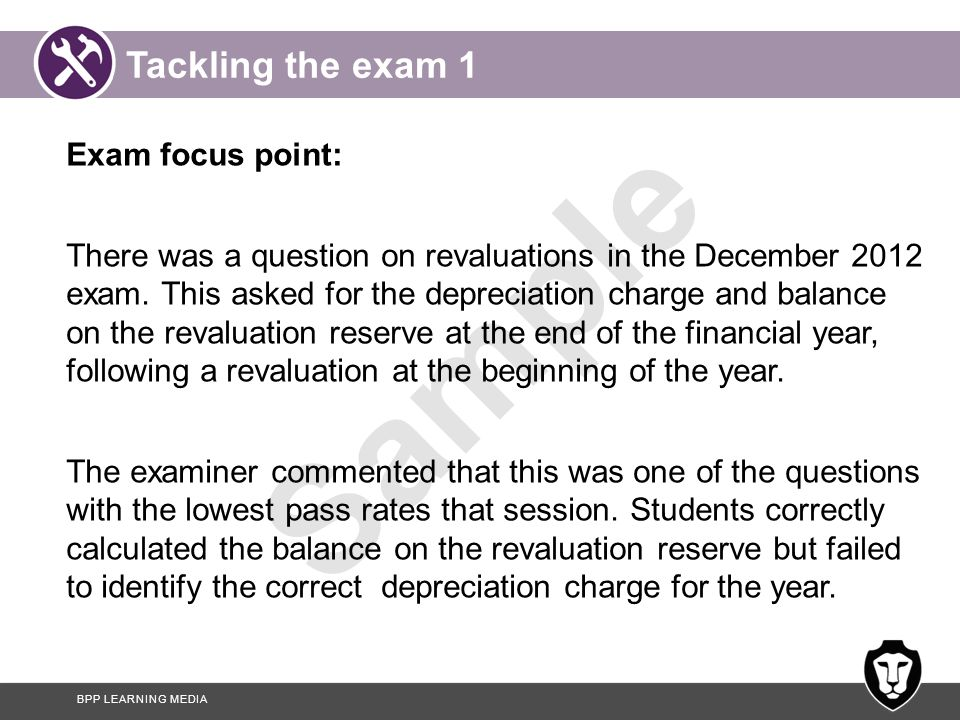 Tackling the exam 1 Exam focus point: