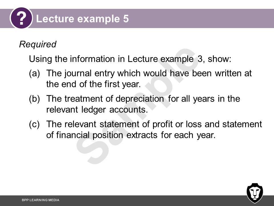 Lecture example 5 Required
