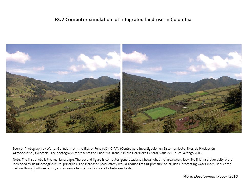 F3.7 Computer simulation of integrated land use in Colombia