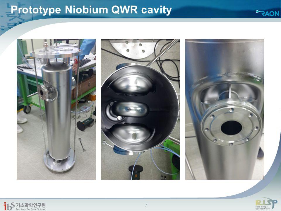 Prototype Niobium QWR cavity