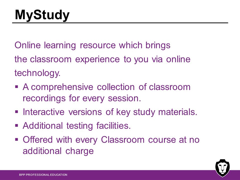 MyStudy Online learning resource which brings