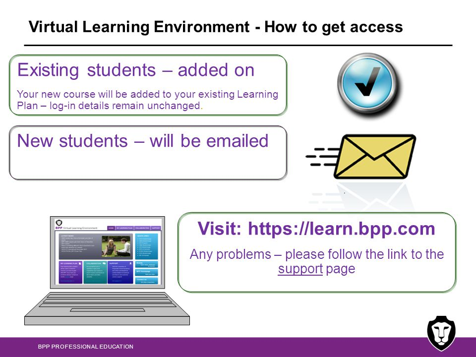 Virtual Learning Environment - How to get access