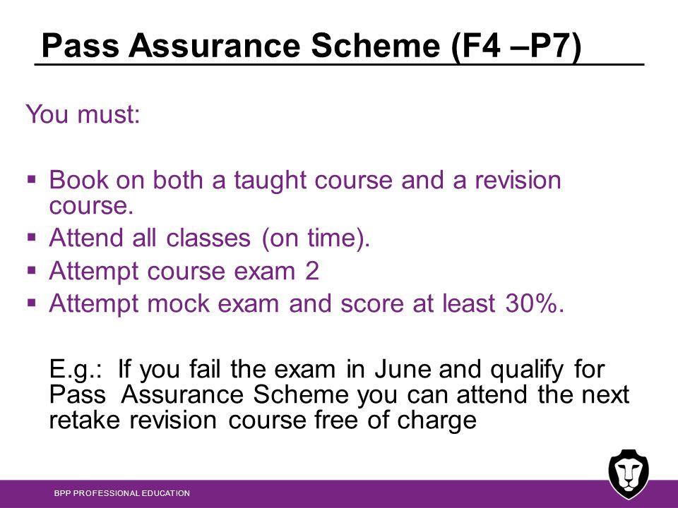 Pass Assurance Scheme (F4 –P7)