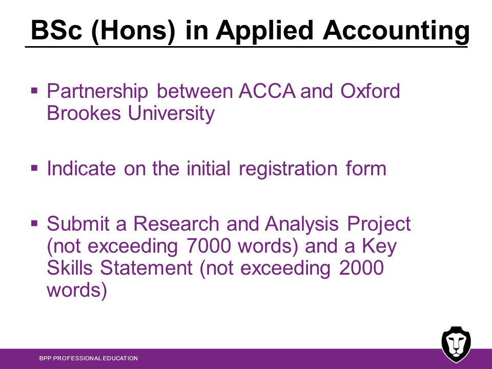 BSc (Hons) in Applied Accounting