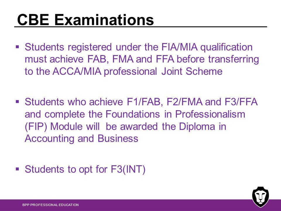 CBE Examinations