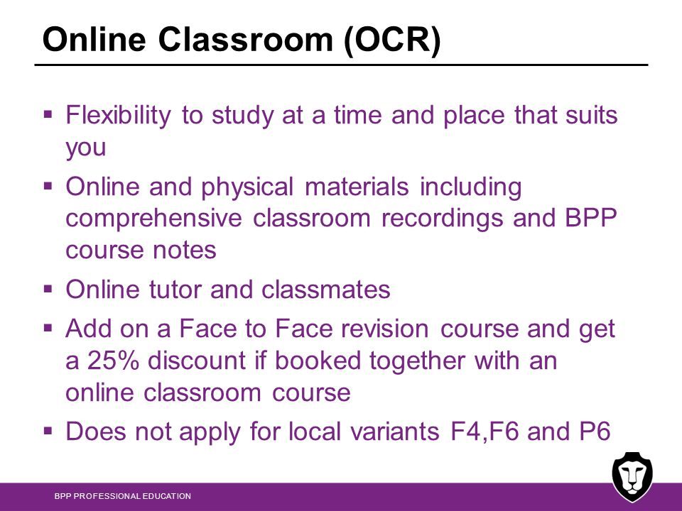Online Classroom (OCR)