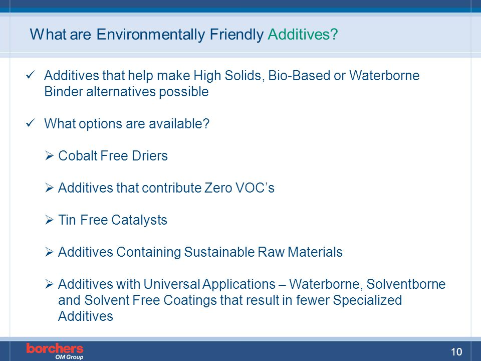What are Environmentally Friendly Additives