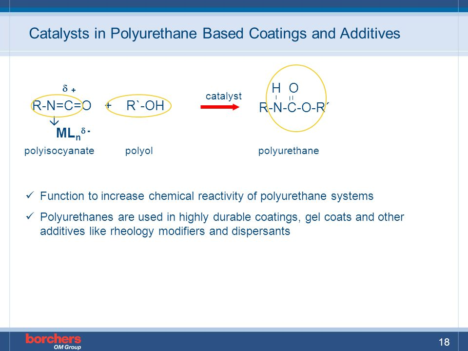 Catalysts in Polyurethane Based Coatings and Additives