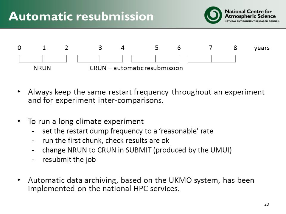 Automatic resubmission
