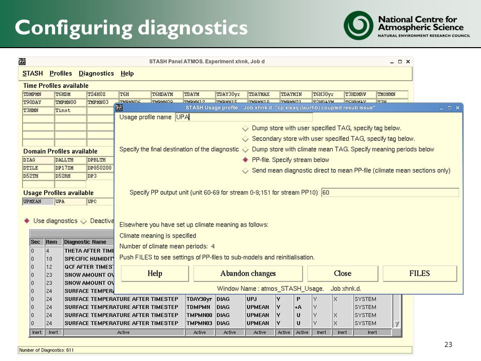 Configuring diagnostics