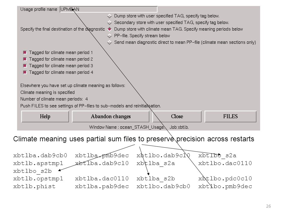 Climate meaning uses partial sum files to preserve precision across restarts