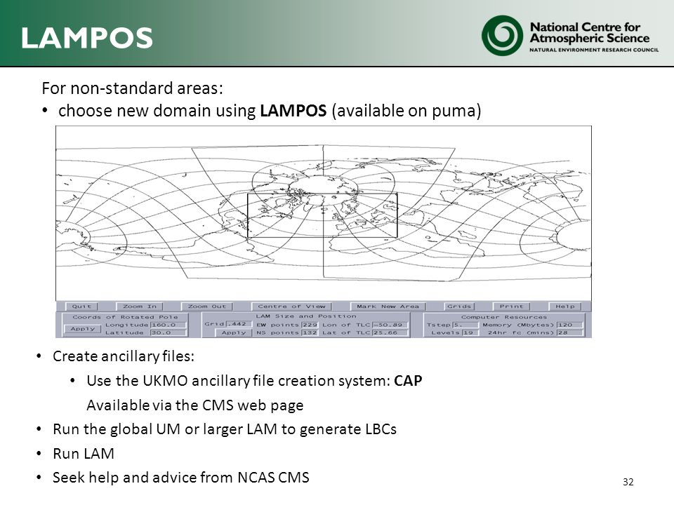 LAMPOS For non-standard areas: