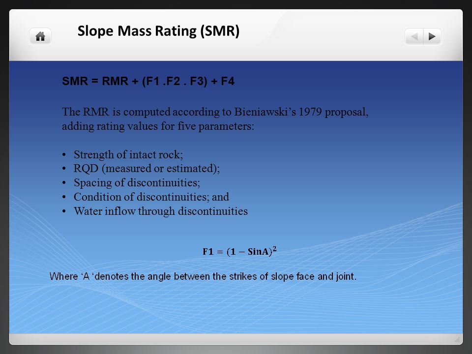 Slope Mass Rating (SMR)