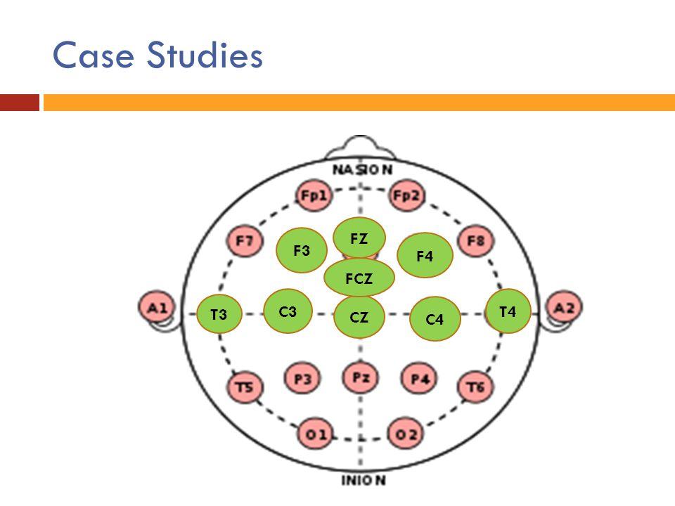 Case Studies FZ F3 F4 FCZ C3 T4 T3 CZ C4