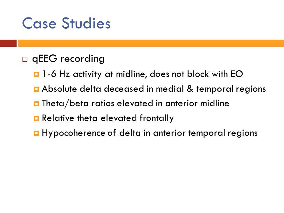 Case Studies qEEG recording