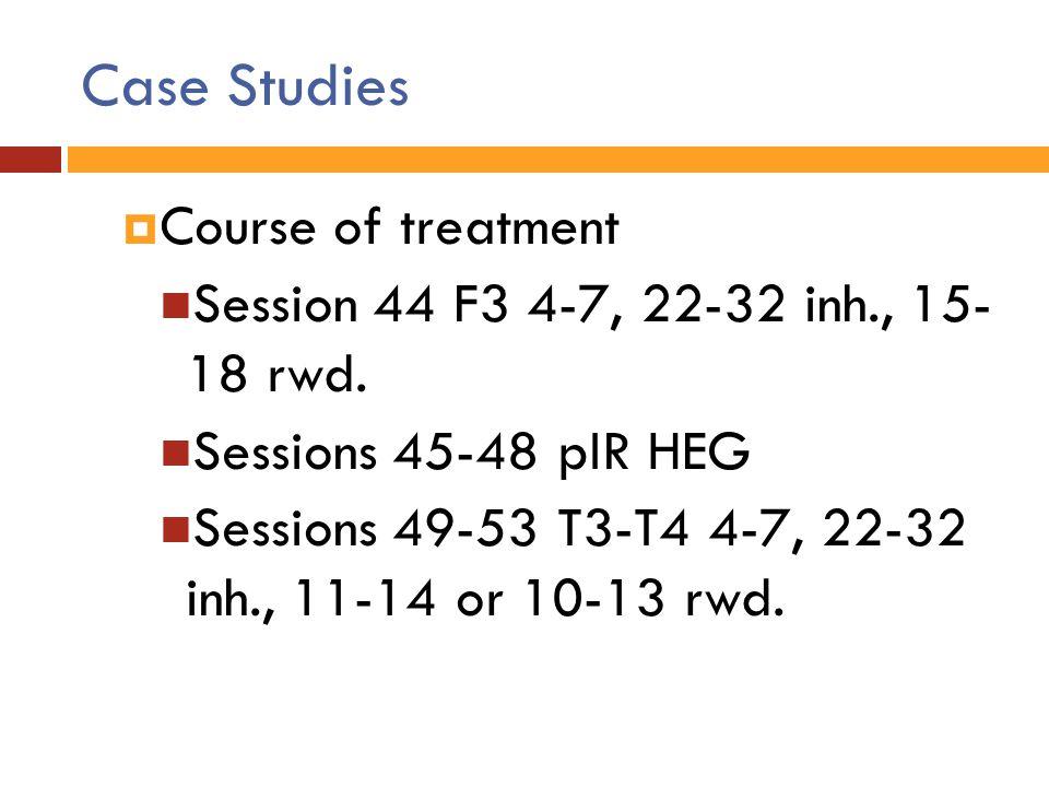 Case Studies Course of treatment