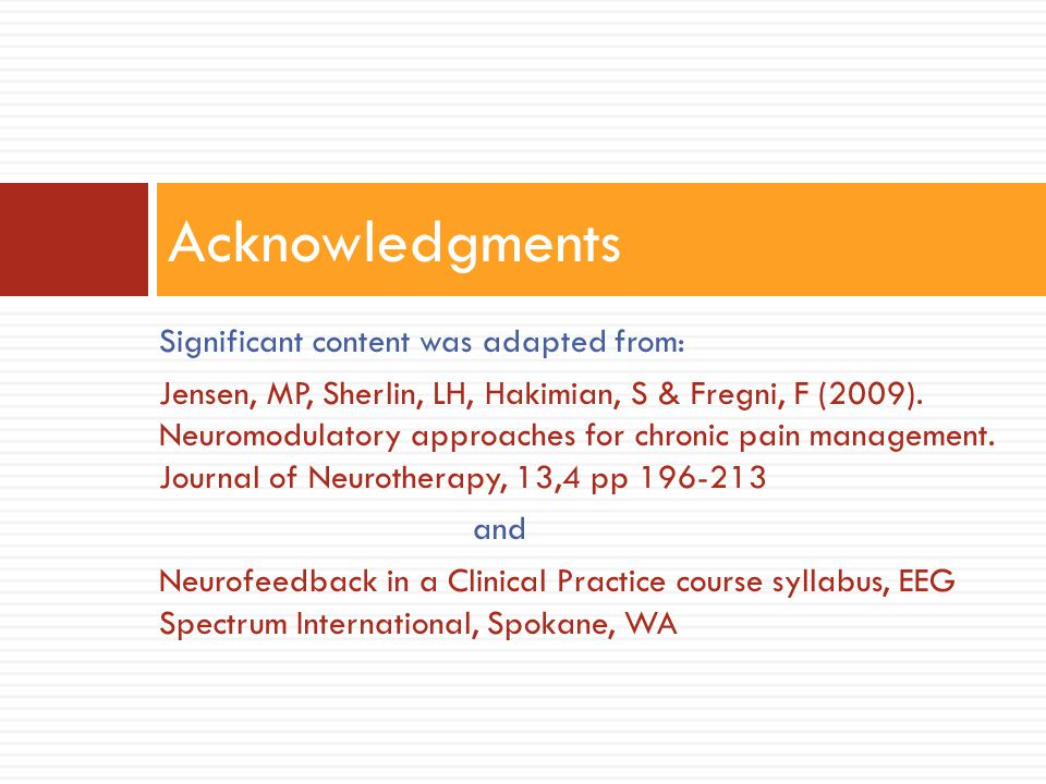 Acknowledgments Significant content was adapted from: