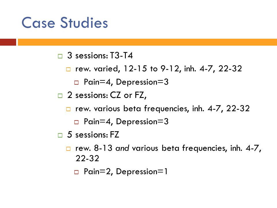 Case Studies 3 sessions: T3-T4 2 sessions: CZ or FZ, 5 sessions: FZ