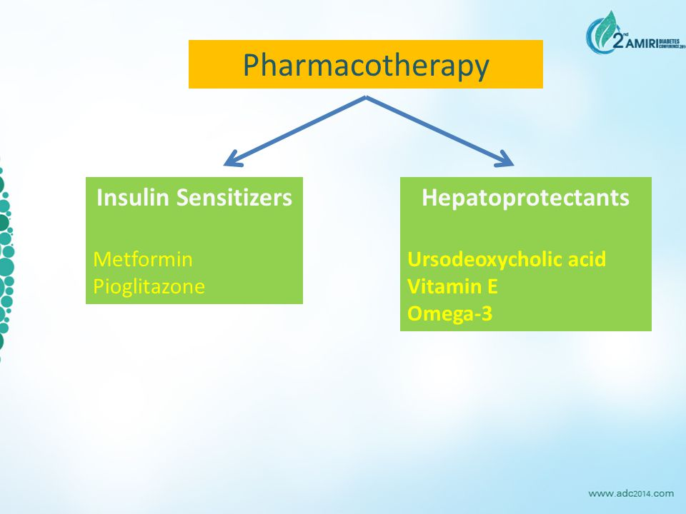 Pharmacotherapy Insulin Sensitizers Hepatoprotectants Metformin