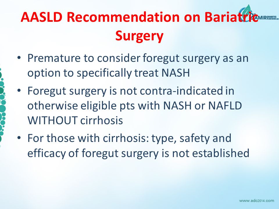 AASLD Recommendation on Bariatric Surgery