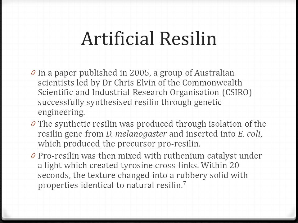 Artificial Resilin
