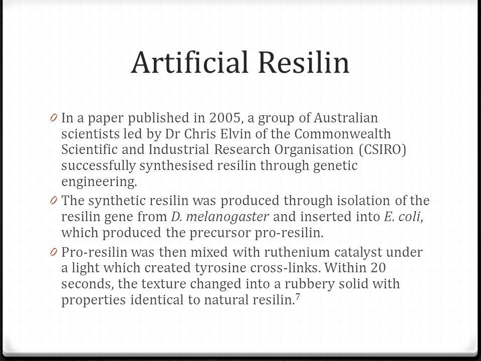 Artificial Resilin
