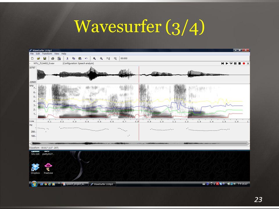 Wavesurfer (3/4)