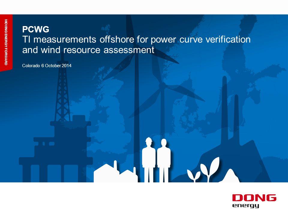 TI measurements offshore for power curve verification