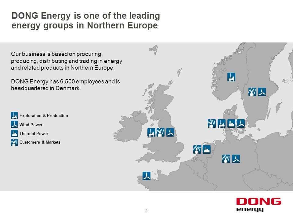 DONG Energy is one of the leading energy groups in Northern Europe
