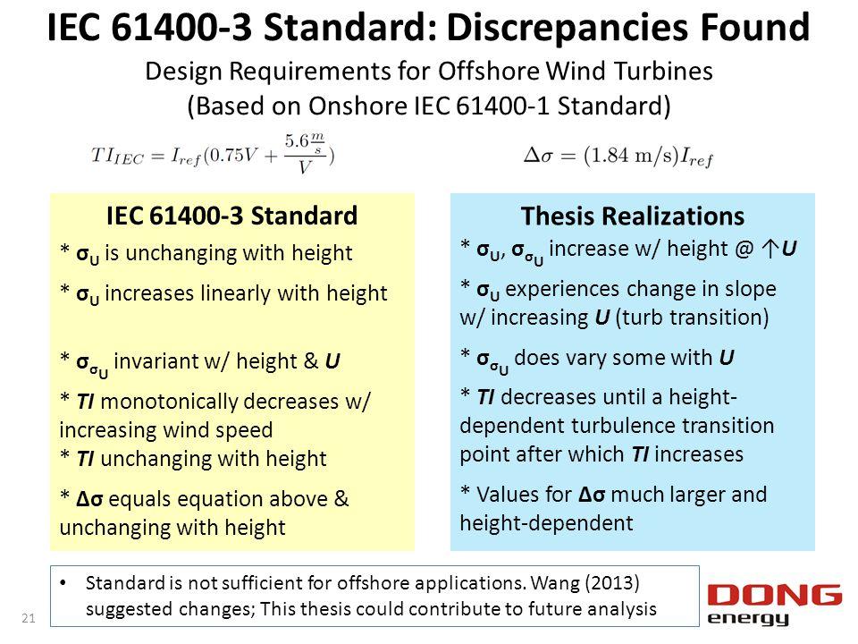IEC 61400-3 Standard: Discrepancies Found