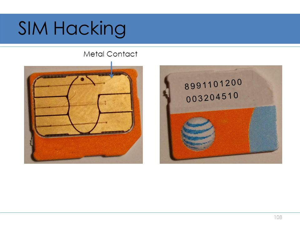 SIM Hacking Metal Contact 8991101200 003204510