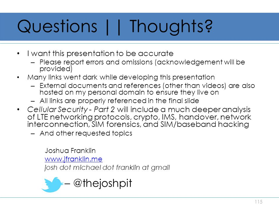 Questions || Thoughts – @thejoshpit