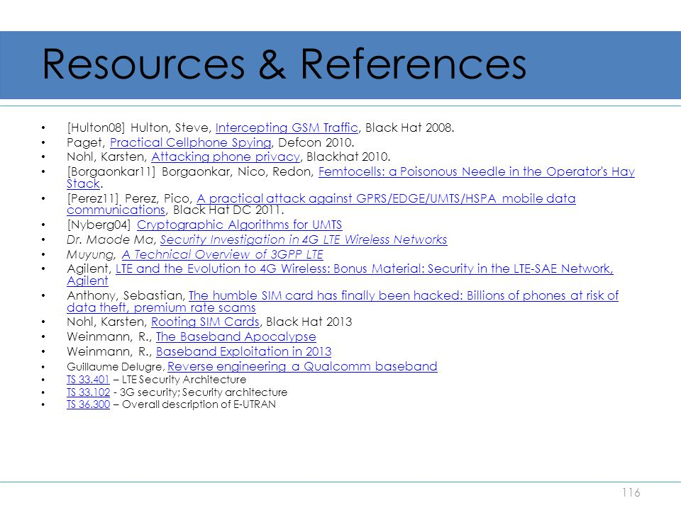 Resources & References