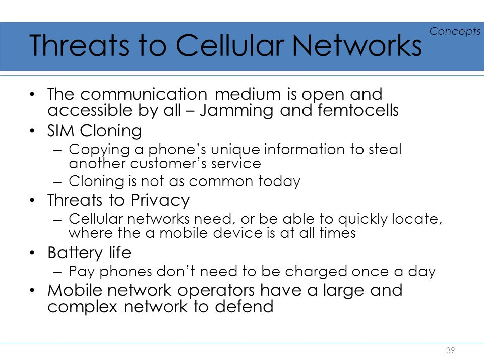 Threats to Cellular Networks