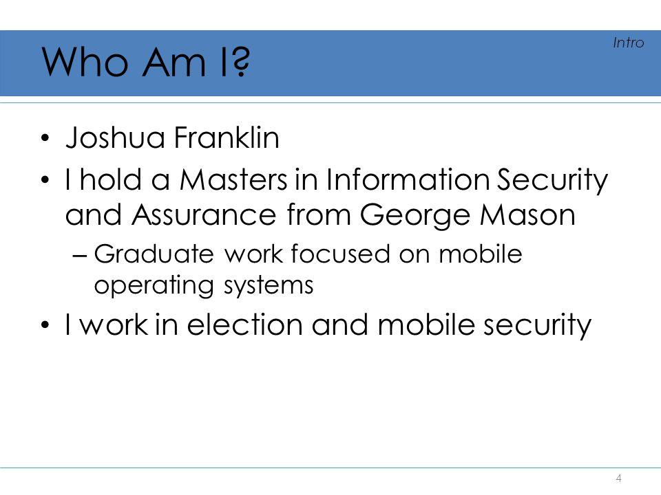 Who Am I Joshua Franklin